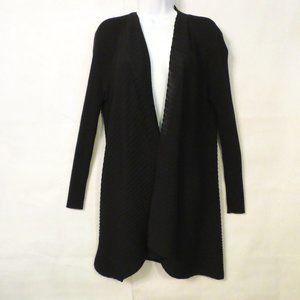 Eileen Fisher Cardigan sweater L 100% Wool Black